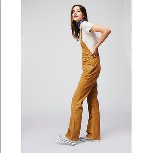 NWT Free People Movin Away Corduroy Overalls 25
